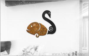 Escultura de Pared Simbiosis Fluvial
