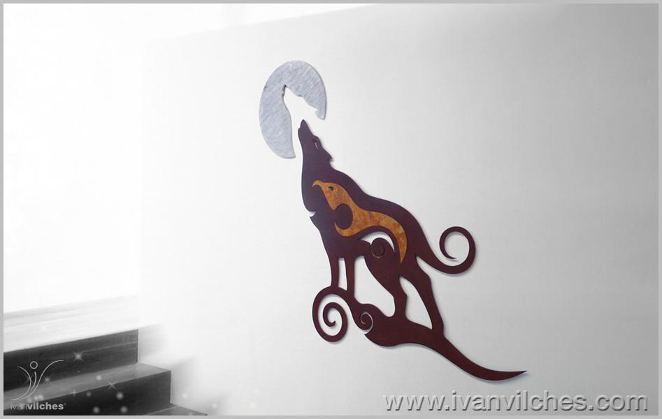 Escultura de Pared Lobo