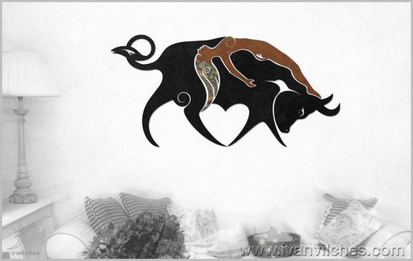 Escultura de Pared Toro